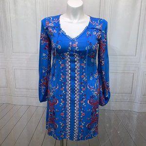 Xhilaration Gathered FItted Bust Zip Dress M